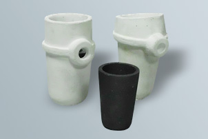 Crucibles for melting gold, silver, platinum and other
